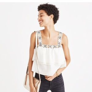 Madewell Embroidered Tier Top